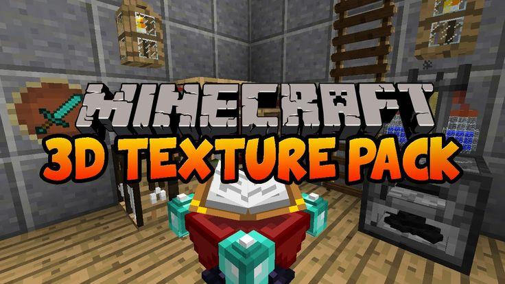 Default 3D Minecraft Texture Pack