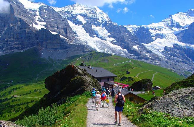 BERNESE OVERLAND TRAILS Where: Switzerland  Length: varies