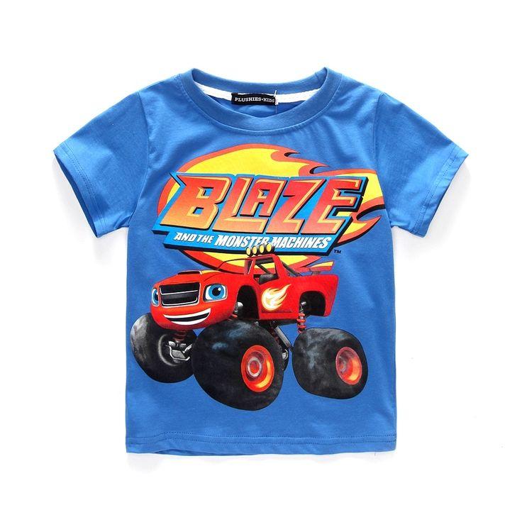 $4.89 (Buy here: https://alitems.com/g/1e8d114494ebda23ff8b16525dc3e8/?i=5&ulp=https%3A%2F%2Fwww.aliexpress.com%2Fitem%2F2016-New-Kids-Clothes-Cotton-Short-sleeved-Boys-T-Shirts-Blaze-and-The-Monster-Cartoon-T%2F32770626145.html ) 2016 New Kids Clothes Cotton Short-sleeved Boys T Shirts  Cartoon T Shirt Patterm Kids Boys Clothing for just $4.89