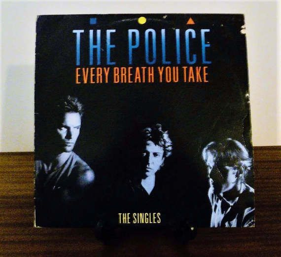 """Vintage 1986 The Police """"Every Breath You Take"""" (The Singles) Vinyl LP Album  Released by A&M Records / The Police Greatest Hits / Sting by V1NTA6EJO"""