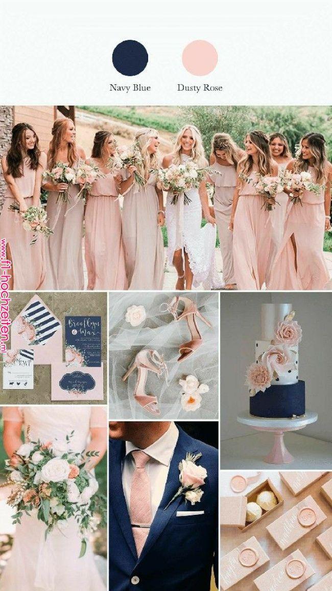 Navy blue e Rose. Wedding in 2019 Pinterest Wedding