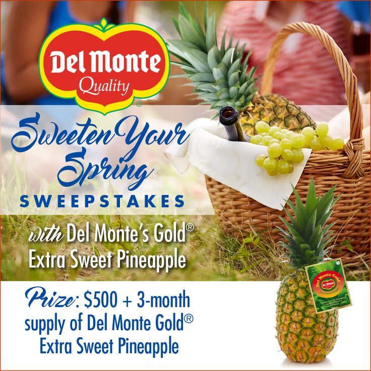 Daily-3/31. Sweeten Your Spring with Del Monte Gold® Extra Sweet Pineapple!