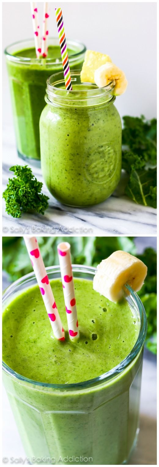 4 Ingredient Tropikale Energy Smoothie-- a green smoothie that actually tastes GOOD!