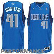 Mens Dallas Mavericks Dirk Nowitzki adidas Royal Blue Swingman Road Jersey