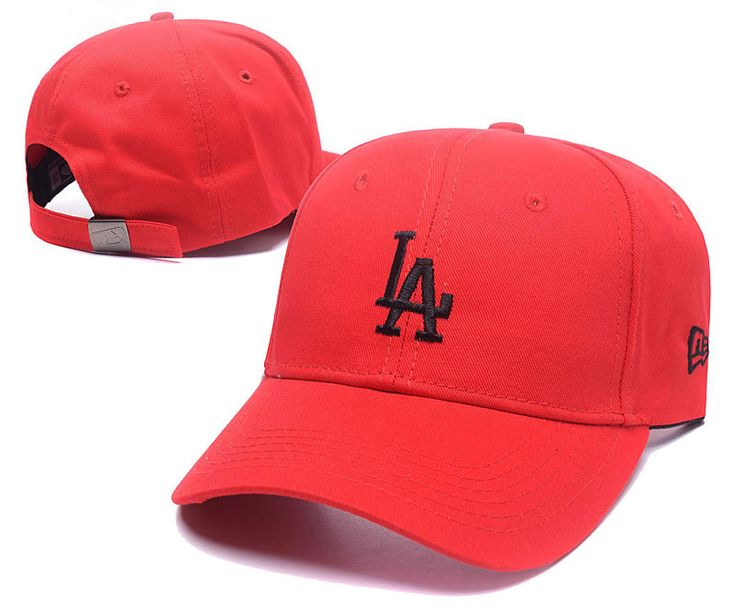 Men's / Women's Los Angeles Dodgers New Era Basic Team Logo Embroidery Adjustable Baseball Hat - Red / Black