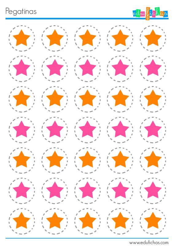 12 best actividades con pegatinas images on pinterest for Pegatinas decorativas pared infantiles