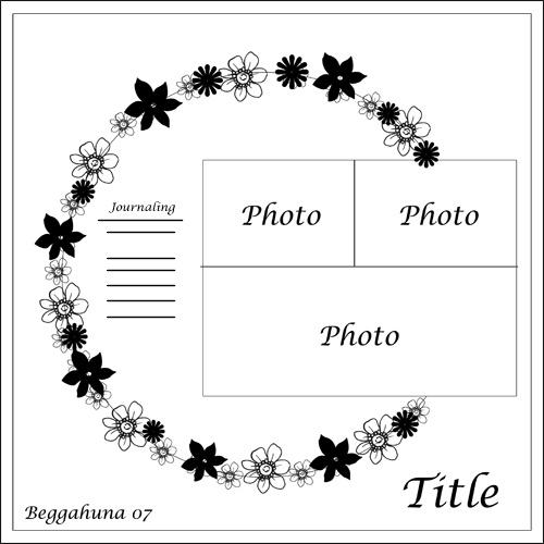 Skissa - Scrapbook.com scrapbook page layout sketch