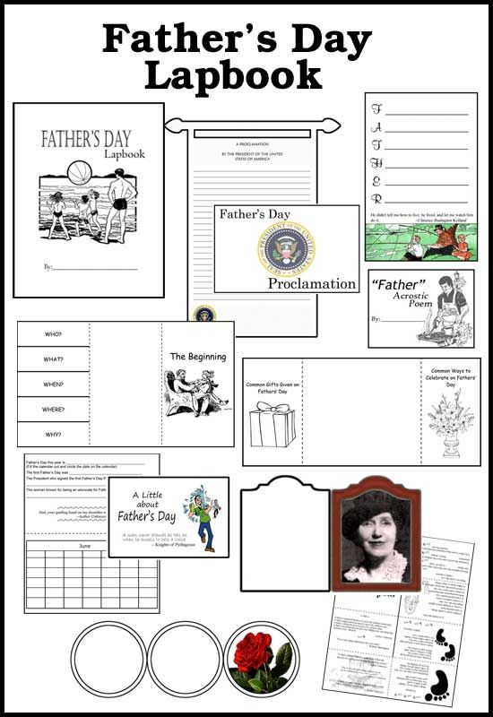 Father's Day LapbookLapbook Ideas, Homeschool Lapbook