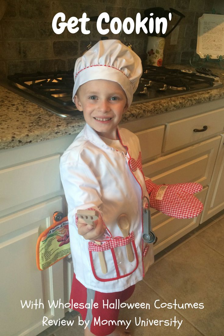 GET COOKIN' WITH THE CHEF COSTUME FROM WHOLESALE HALLOWEEN COSTUMES by Mommy University at www.mommyuniversitynj.com