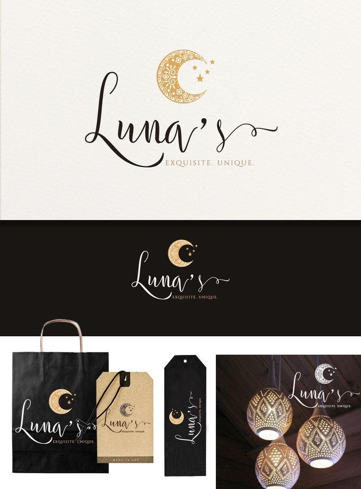 """This will be the logo for a company that imports furniture and ornaments from Indonesia, all handmade by artisans that live in the surrounding islands. They choose the best products and ship them to the US.  """"Luna"""" means """"Moon"""" in English and this is why a moon shape was wanted in the logo. Inside the  moon I thought to have a pattern that would remind of the traditional Indonesian sarongs.  The color tones are earthy, warm, inviting. The whole design was intended to be feminine, elegant…"""
