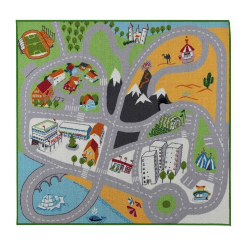 "Play Mat - Likplats - IKEA: 100% nylon with a latex backing. Measures 4' 7"" x 4' 4""  #Kids #Play_Mat #Rug"