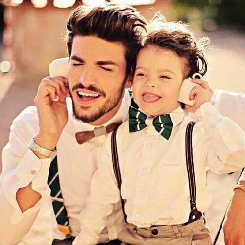 Kids fashion - father and son outfit