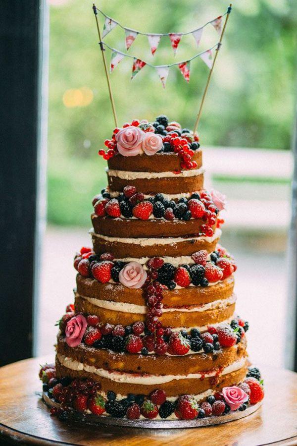 cute naked wedding cake ideas