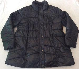 Old Navy Maternity Xl Puffer Jacket Coat Black Winter