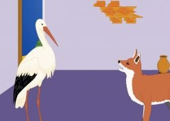 Fox and  stork!