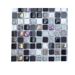 splashback glass tile aztec art blackboard glass 6 in x 6 in tile. beautiful ideas. Home Design Ideas