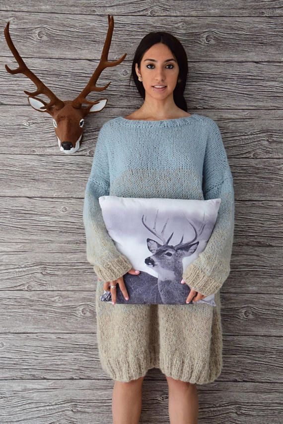 The long, oversized sweater with delicate ombre effect PDF pattern