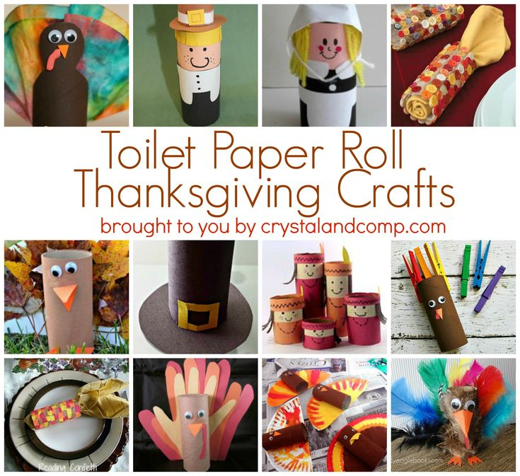 12 Toilet Paper Roll Thanksgiving Crafts from Crystal