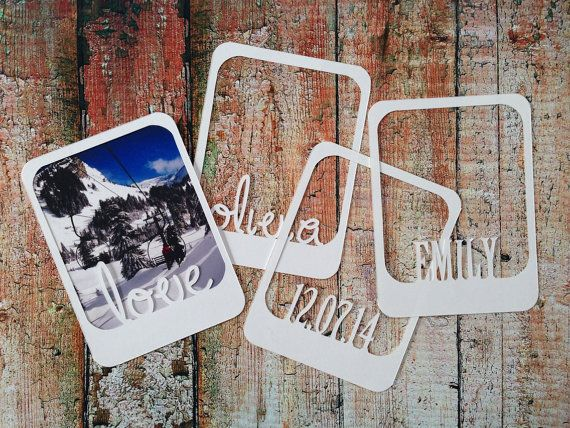 Personalised Scrapbooking Project Life Polaroid Frame Die Cuts Papercut x 6 on Etsy, £3.99