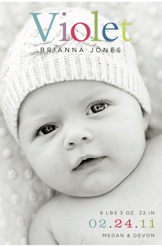Such a precious baby and a sweet simple announcement. Could even use hospital picture.