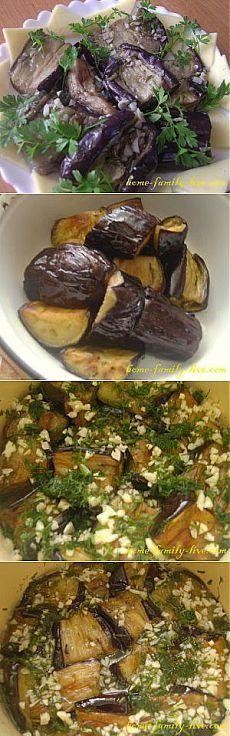 Баклажаны с чесноком - пошаговый рецепт с фото