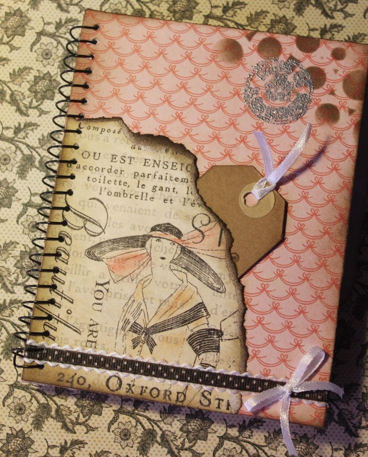 Cuaderno personalizado con un toque scrap