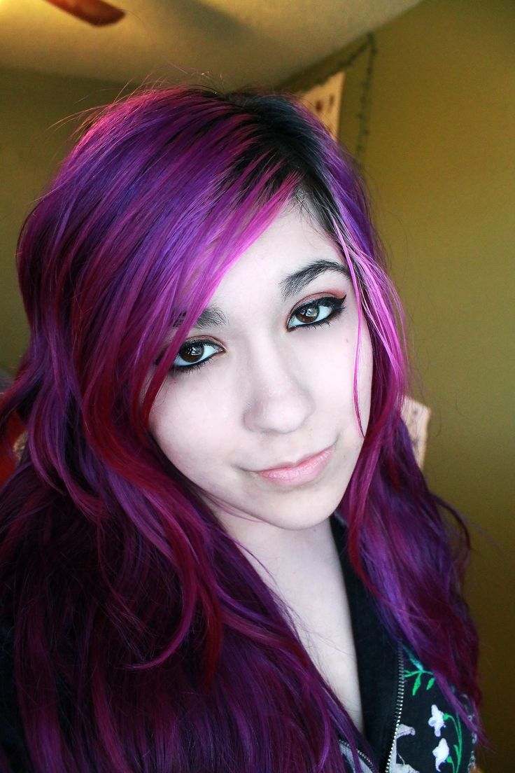 purple hair real life anime hair this is cool
