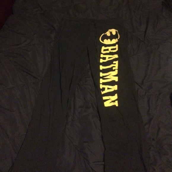 Small Black Batman Sweatpants Small sized black and yellow batman sweatpants. Good condition, purchased at Hot Topic a few years ago. Hot Topic Intimates & Sleepwear Pajamas