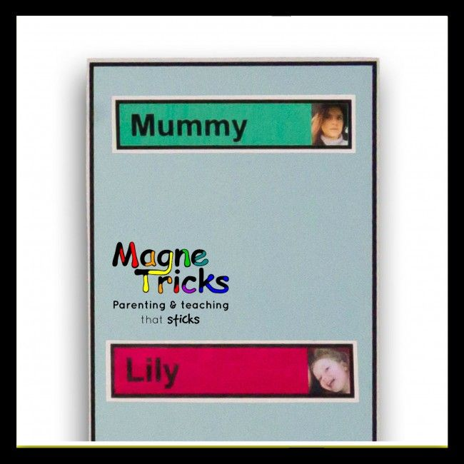 Name header magnets for chores