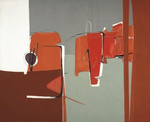 Margo Lewers. Movement with Red Oil on canvas, 137.5 x 167.5 cm