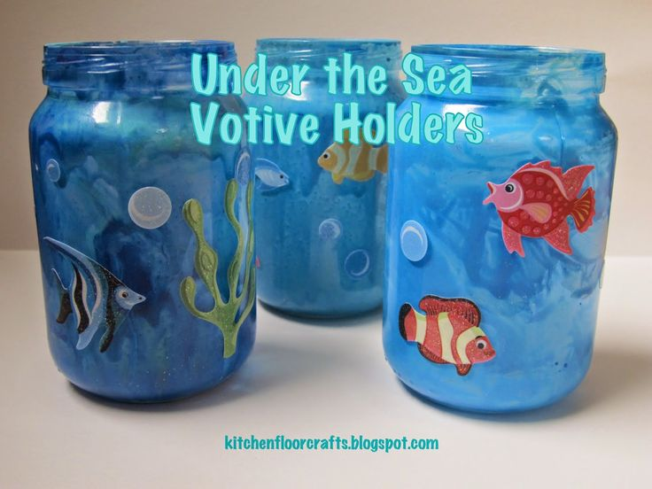 Kitchen Floor Crafts: Under the Sea Votive Holders