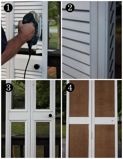 We are absolutely doing this. We have 7 pairs of these in our place!!! DIY Bye Bye Louvered Doors! Hello Paneled!!