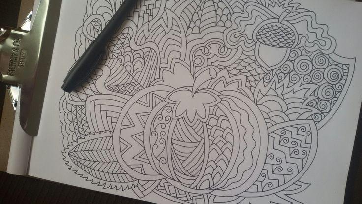 #doodles #coloringpages #barberrydesign #pumpkincoloring #autumncoloring