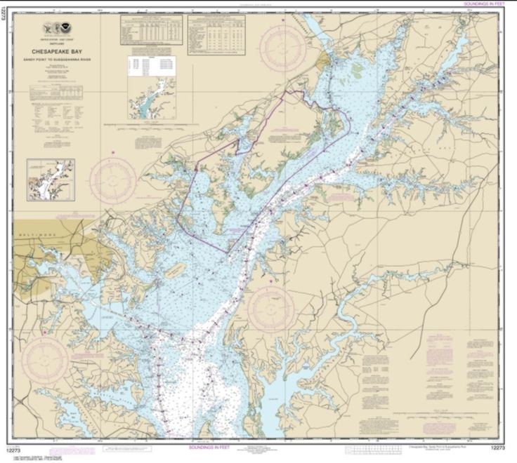 Chesapeake Bay Sandy Point to Susquehanna River (12273-59) by NOAA