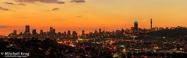 Home <3 Panorama of JHB Johannesburg City Skyline at Dusk