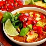Restaurant-Style Chicken Tortilla Soup. Made this tonight and it was really good!!