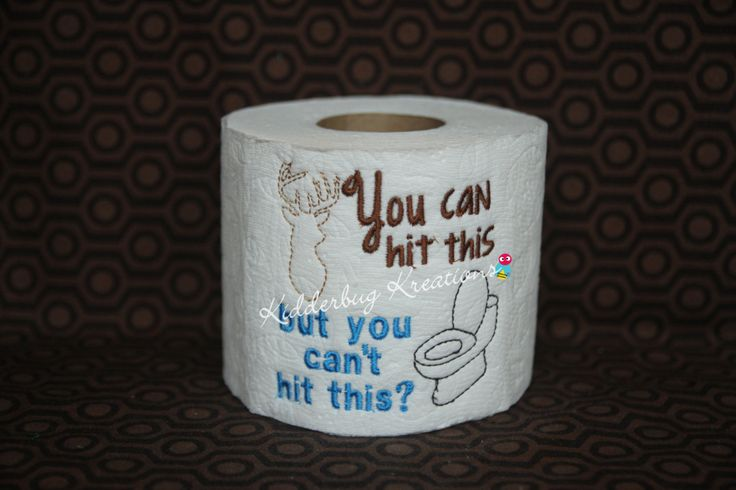 Decorative Embroidered Toilet Paper Hit This Pinned By