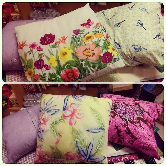 Cushions made in my junior class at Creative Sewing Centre