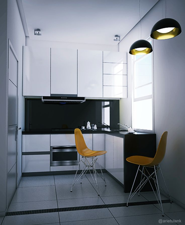 Simple Kitchen, Black and White Indonesia, Jakarta