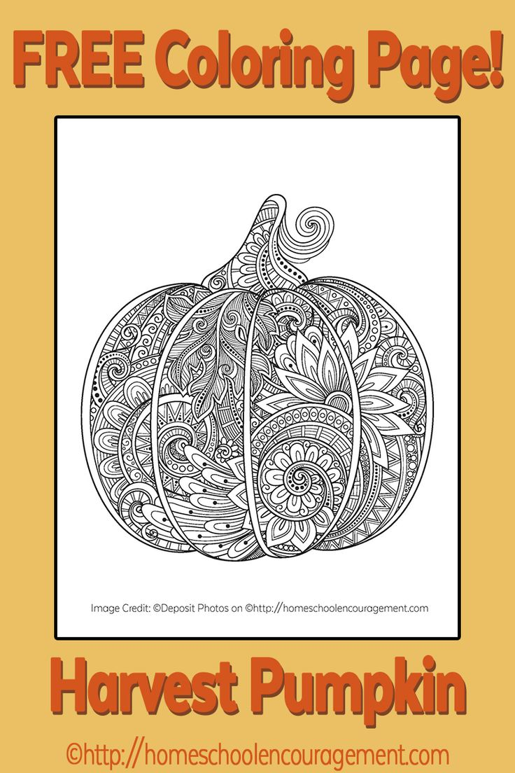 Free Printable Harvest Pumpkin
