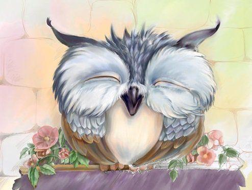 Схема вышивки «Веселая сова»