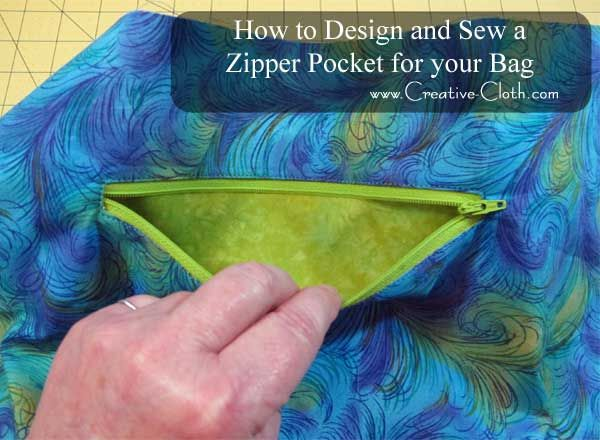 Free Sewing Tutorial - How to Design and Sew a Slip Pocket for Your Bag