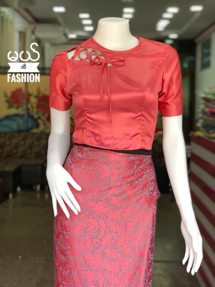 33b75b49b Pin by Karina Renee Casarez on Burmese Days in 2019 | Shirt blouses, Blouse  designs, Blouse