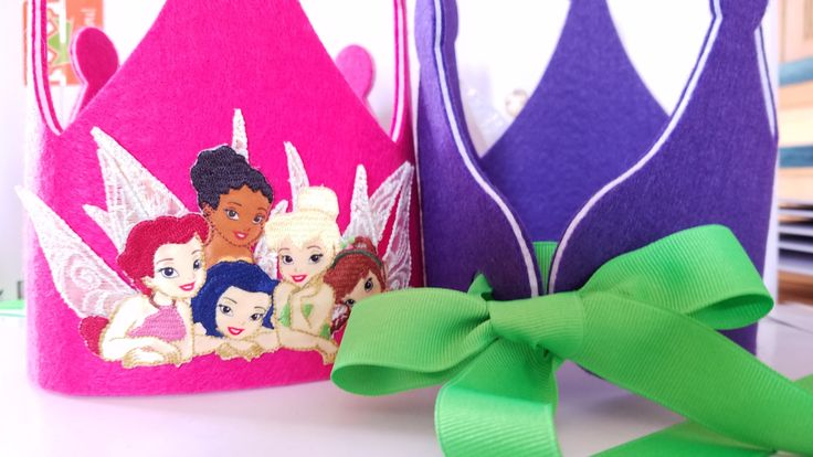Disney Princess Fairies Birthday Crown- Pixie Party Hat - Tinkerbell Decorations - Fairy Birthday Theme by iCROWNyou on Etsy