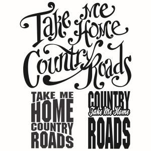 West Virginia State - Take Me Home Country Roads - Typography Quotes Cuttable Design Cut File. Vector, Clipart, Digital Scrapbooking Download, Available in JPEG, PDF, EPS, DXF and SVG. Works with Cricut, Design Space, Sure Cuts A Lot, Make the Cut!, Inkscape, CorelDraw, Adobe Illustrator, Silhouette Cameo, Brother ScanNCut and other compatible software.
