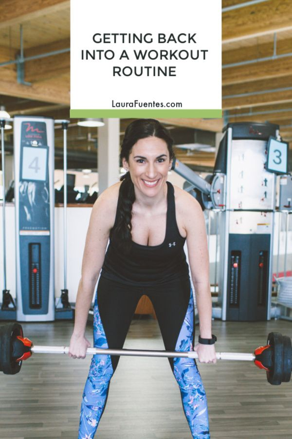 Ever wonder how to get back into working out in the middle