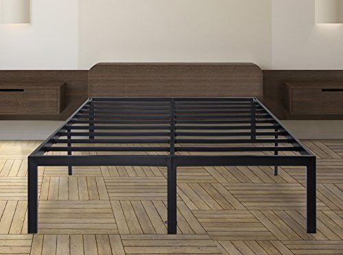 sleeplace 18 inch tall heavy duty steel slat bed frame t 3000 queen
