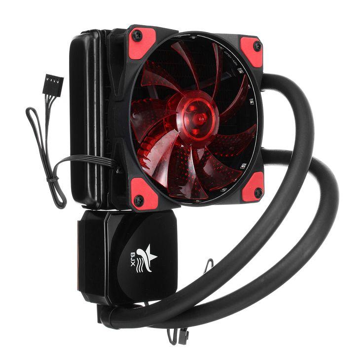 Liquid CPU Cooler Sistema de refrigeración de agua Radiador Ventilador individual para INTER AMD