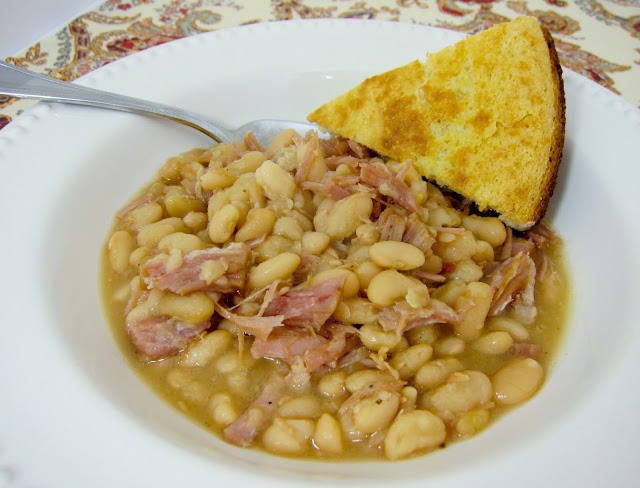 Super easy slow cooker ham and white beansWhite Beans, Crockpot Ham ...