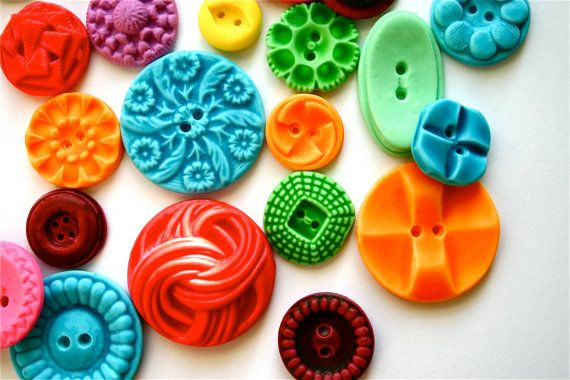 LOVE THESE! - Edible Vintage Candy Buttons - 50 Fruit Tart (Yum) Flavored Candy Buttons - Colorful
